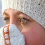 На морозе слезятся глаза
